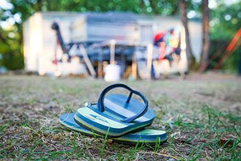 Camping avec des emplacements spacieux
